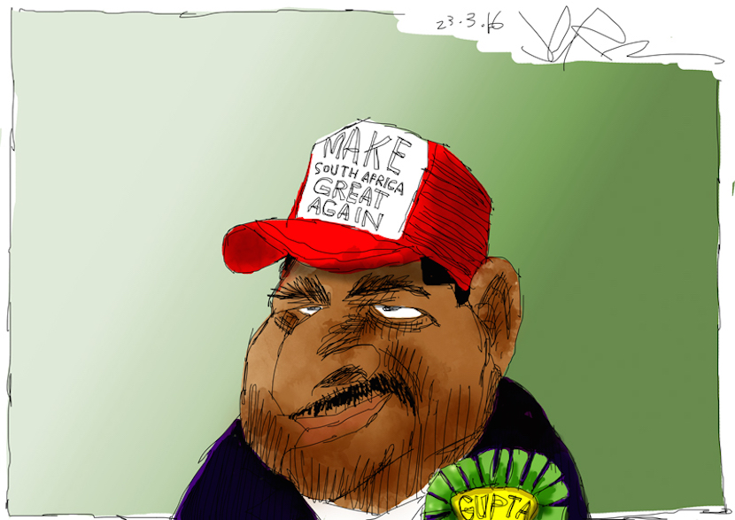 The contradiction of the Guptas fleeing South Africa for Dubai says it all. More magic available at www.jerm.co.za