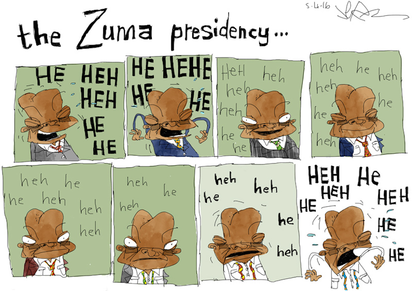 Jacob Zuma's presidency as seen by Jerm. More magic at www.jerm.co.za