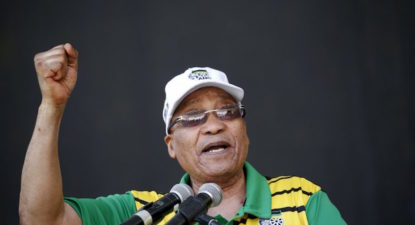 "Straight faced Zuma: ""Leaders must go when people don't want them anymore."""
