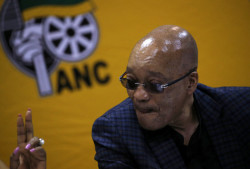 South Africa's President and ANC president Jacob Zuma attends the party's three-day National Executive Committee (NEC) meeting in Pretoria, in this March 18, 2016 file photo. REUTERS/Siphiwe Sibeko