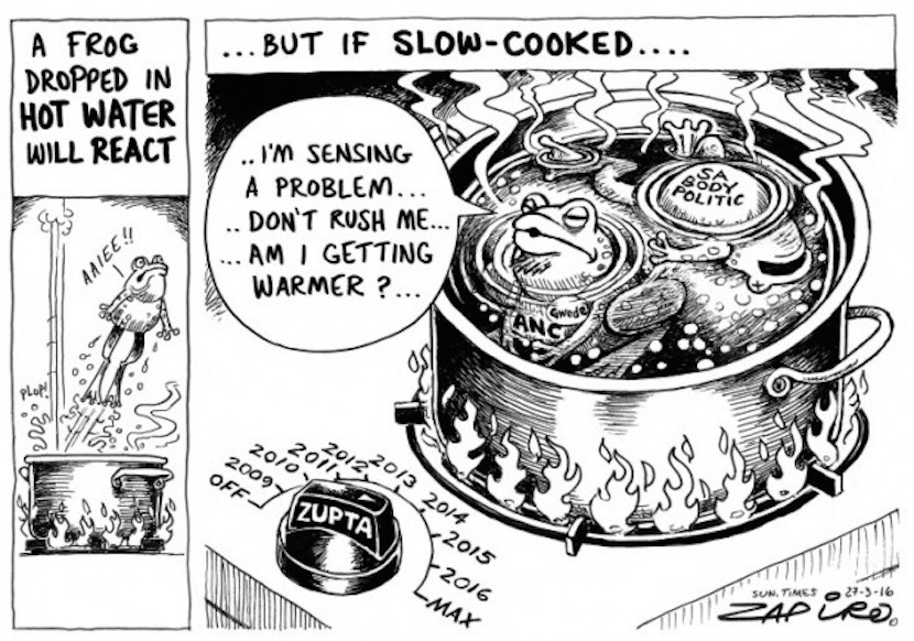 The slow cooking of the ANC majority. More magic available at www.zapiro.com.