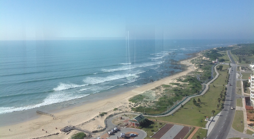 The view from the room President Jacob Zuma slept in. pic: Deon Gouws