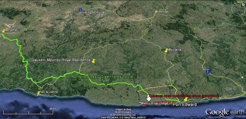 Eastern Pondoland bisected by N2