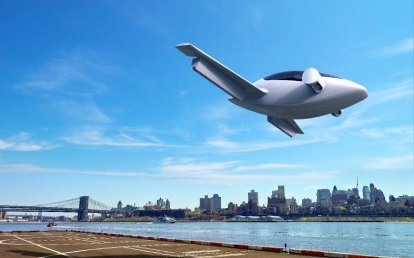 Lilium Aviation's electric plane, which takes off vertically. Image: Lilium Aviation