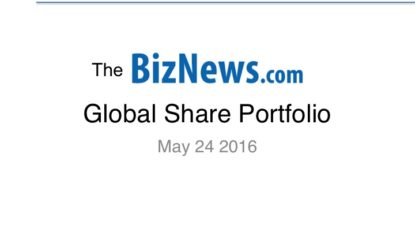 Biznews' Global Share Portfolio May – Continues to fly on weak rand