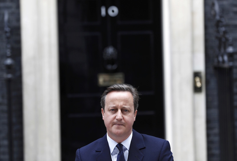 Britain's Prime Minister David Cameron speaks about the EU referendum outside 10 Downing Street in London, June 21, 2016. REUTERS/Stefan Wermuth