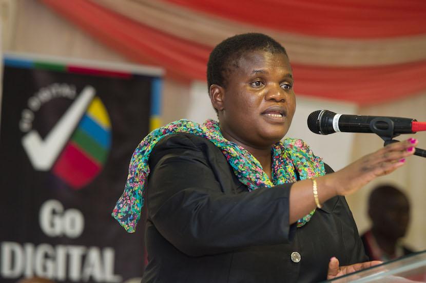 Minister of Communications Ms Faith Muthambi Digital Migration Imbizi held at El Shaddai Church, Ha-Rabali Village, Nzhelele in Limpopo. 15/08/2015.
