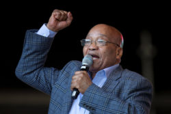 South Africa's President Jacob Zuma speaks during an African National Congress youth rally in Durban, South Africa, June 25, 2016. REUTERS/Rogan Ward