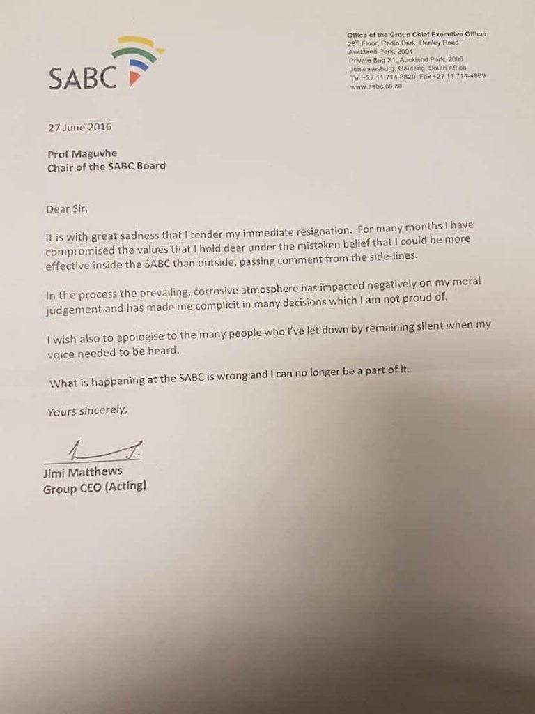 Jimi resignation