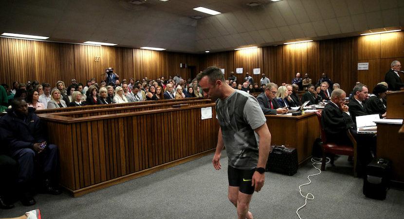 VIDEO: Pistorius' court walk without prosthetics in bid to avoid jail