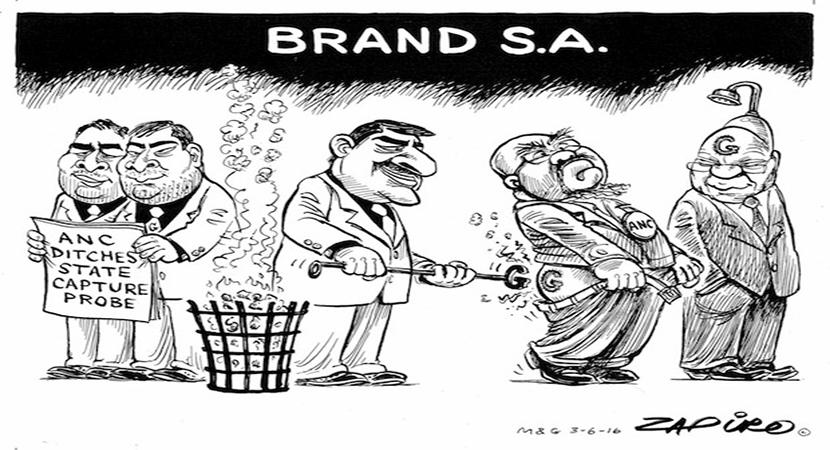 More Zapiro magic as the SACP slams the ANC's closure of 'state capture' investigation. www.zapiro.com