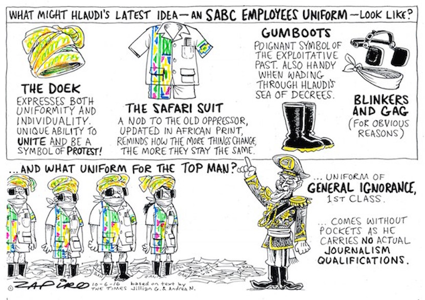 What next from Hlaudi? More cartoon magic at www.zapiro.com.
