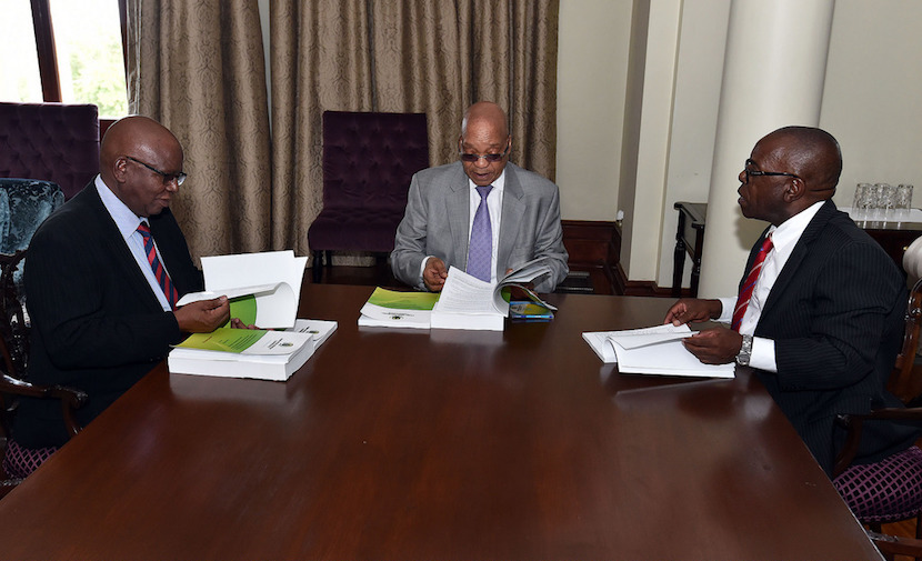 President Jacob Zuma receives Final Report from Arms Deal Commission, 30 Dec 2015