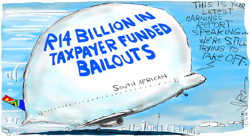 Coffers may be running low but SAA has already received R14bn in taxpayer funded bailouts. More magic available at www.jerm.co.za.