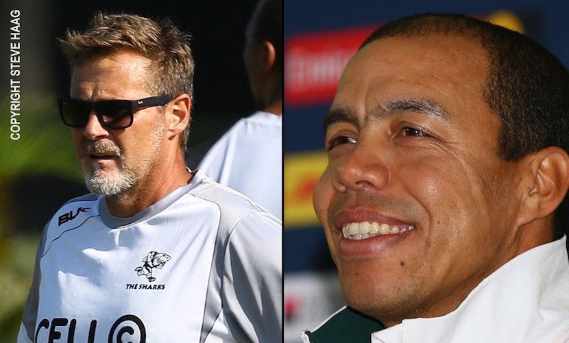 New Sharks duo Robert Du Preez and Ricardo Loubscher. Pic: Twitter @TheSharksZA