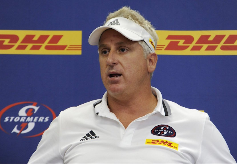 Stormers coach Robbie Fleck. Pic: Twitter @SuperSportTV