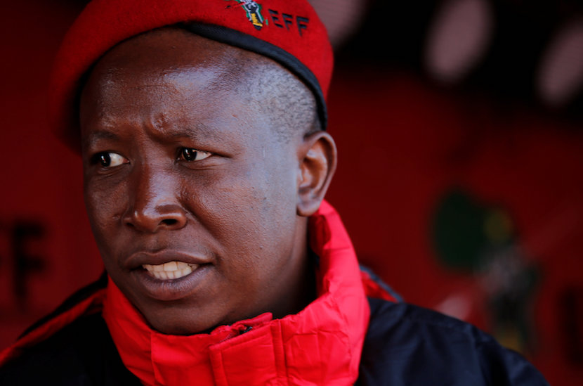 Julius Malema, the firebrand leader of South Africa's EFF. REUTERS/Siphiwe Sibeko.