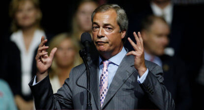 Jokers in the pack: Nigel Farage helps Donald Trump on campaign trail