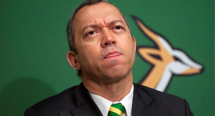 Hoskins quits as President of SA Rugby