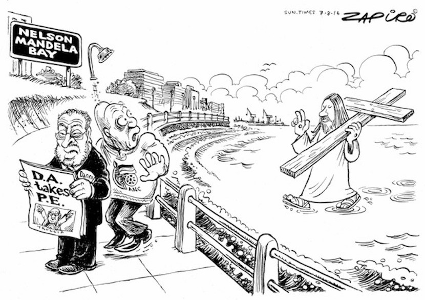 How Zapiro sees the reaction to the DA coalition has securing a majority in Nelson Mandela Bay. Click here for more of his magic.