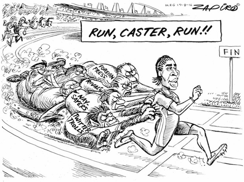 Caster Semenya leaves everyone in her dust, naysayers included. More magic available at www.zapiro.com.