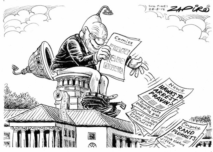 The cartoon speaks a thousand words. More magic available at www.zapiro.com