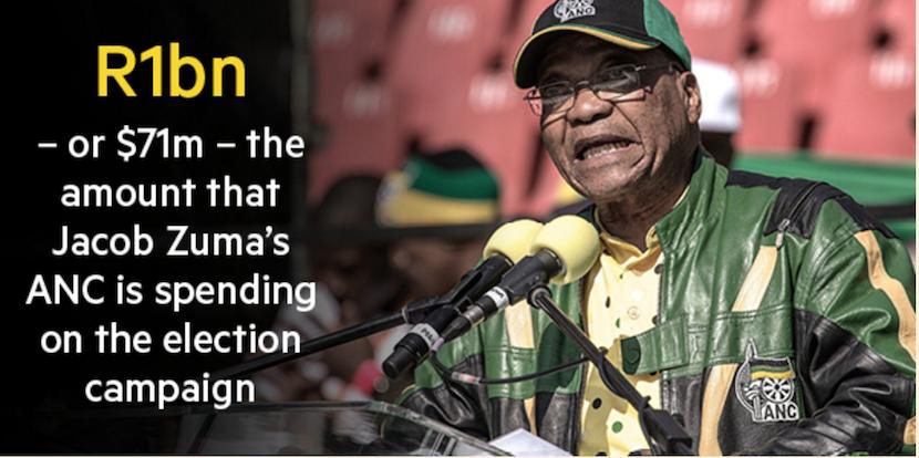 Zuma campaign spend