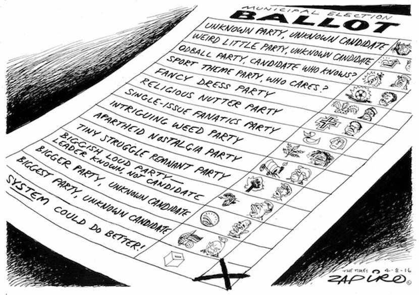 Zapiro's election roll, more magic at www.zapiro.com.