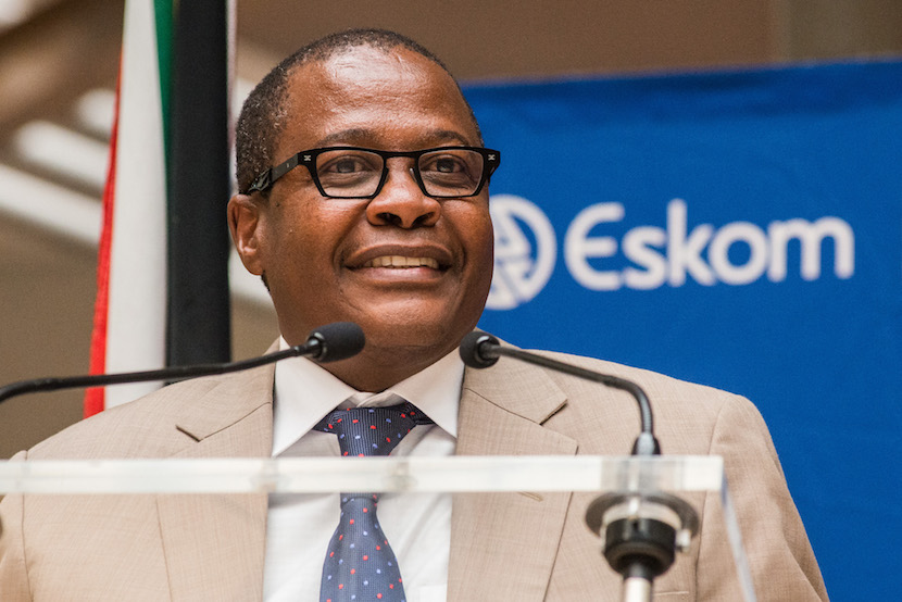 Brian Molefe, chief executive officer of Eskom Holdings SOC Ltd., speaks at the headquarters of Eskom Holdings SOC Ltd. at Megawatt Park in Johannesburg, South Africa. Photographer: Waldo Swiegers/Bloomberg