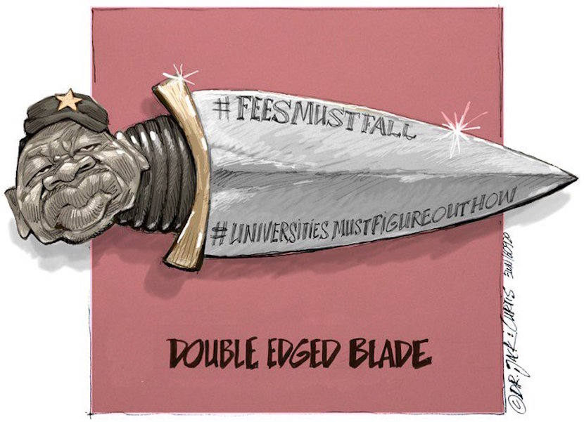 #FeesMustFall, cartoon courtesy of Twitter