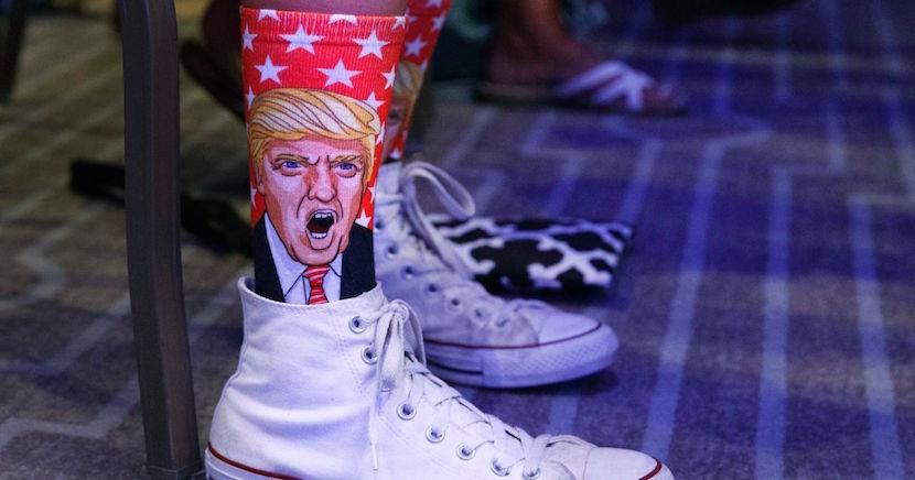 Donald Trump socks. Pic: Twitter @haaretzcom