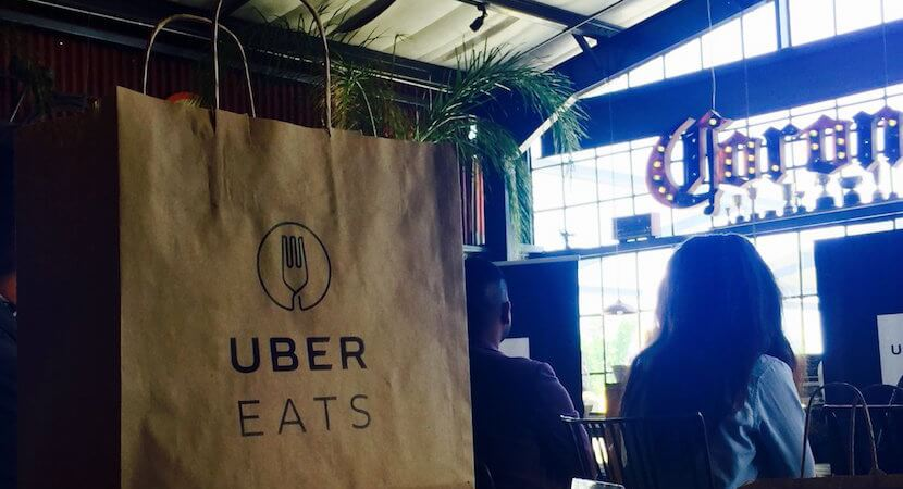 Disruptive Uber puts meals on wheels. Next target delivery industry.