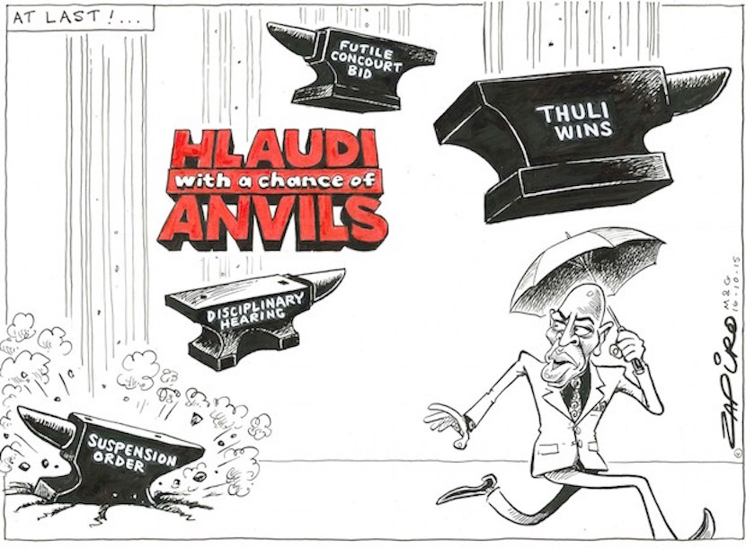 A Zapiro classic from 2015. Hlaudi is still running for cover. More magic available at www.zapiro.com.