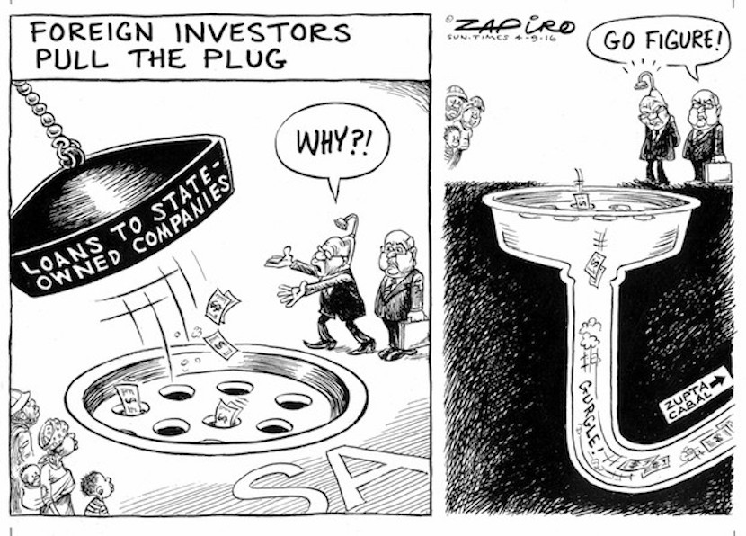 The coffers are running dry. More magic available at www.zapiro.com.