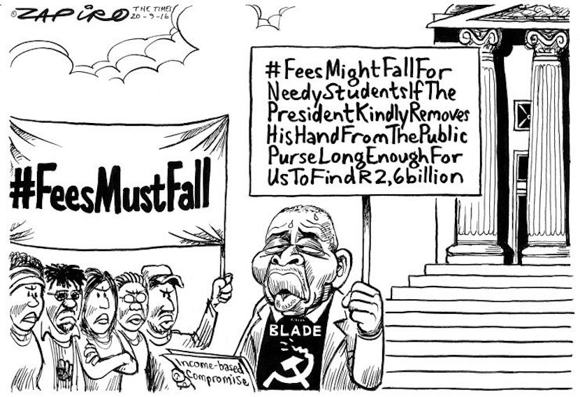 @zapiro's take on Blade Nzimande's recommendation of a fee adjustment of not more than 8%.