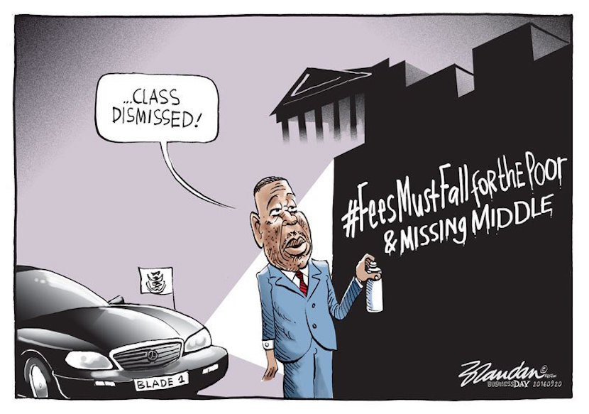 Free education. Cartoon courtesy of Twitter @brandanrey