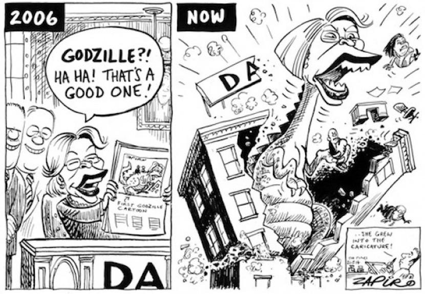 Helen ZIlle's public image evolution according to Zapiro. More magic available at www.zapiro.com.