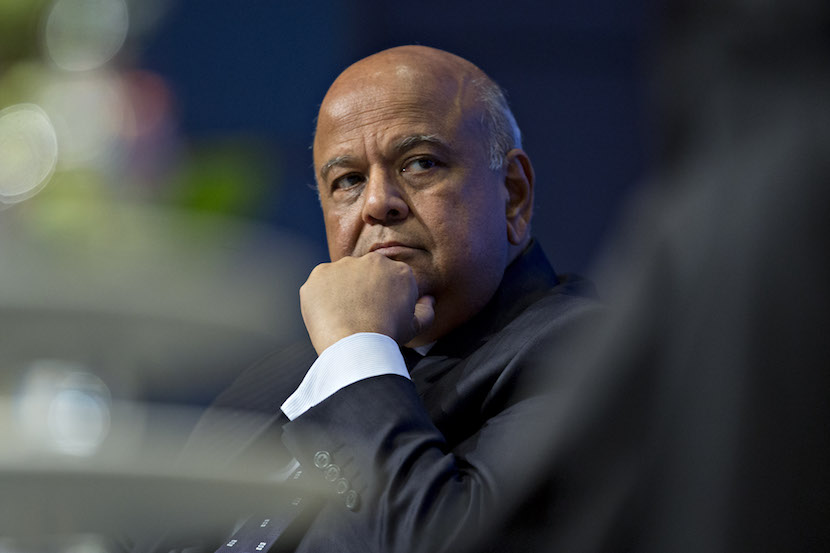 Pravin Gordhan, South Africa's finance minister, listens during a panel discussion at the International Monetary Fund (IMF) and World Bank Group Annual Meetings in Washington, D.C., U.S., on Thursday, Oct. 6, 2016. The IMF warned this week that rising political tensions over globalization are threatening to derail a world recovery already seeking a reliable growth engine. Photographer: Andrew Harrer/Bloomberg