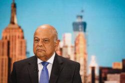 Pravin Gordhan, South Africa's finance minister. Photographer: Christopher Goodney/Bloomberg