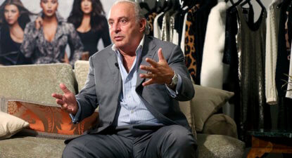 "UK turns screws on ""unacceptable face of capitalism"". First billionaire Philip Green; who's next?"
