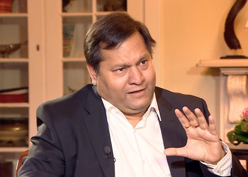 Ajay Gupta being interviewed by Stephen Grootes