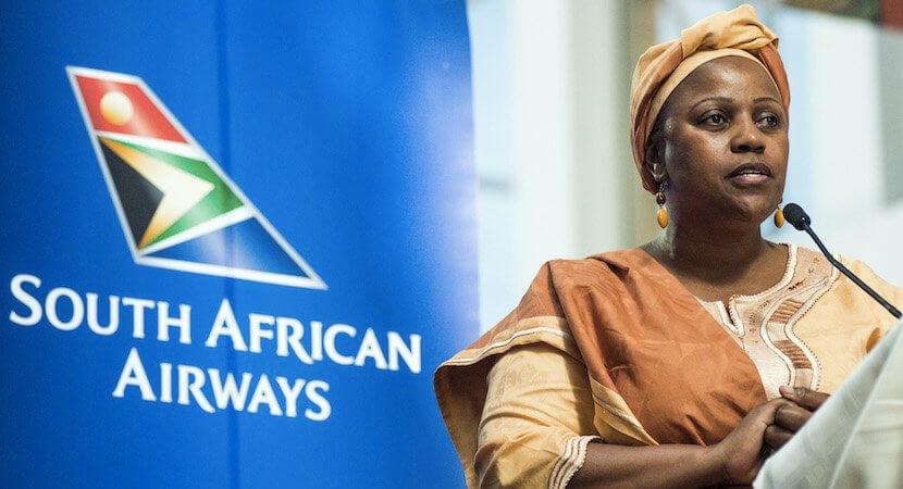 """You're not fired"" – SAA, Treasury deny Myeni exit rumours"