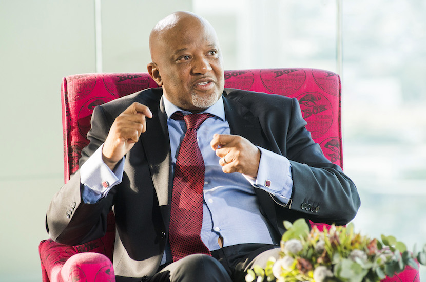 Mcebisi Jonas, South Africa's deputy finance minister, speaks during a News24 Frontline event in Cape Town, South Africa, on Thursday, Oct. 27, 2016. Confronted by the threat of a credit-rating downgrade, falling tax revenue, rising debt and demands by students to scrap university fees, South African Finance Minister Pravin Gordhan is prioritizing reviving a moribund economy. Photographer: Waldo Swiegers/Bloomberg