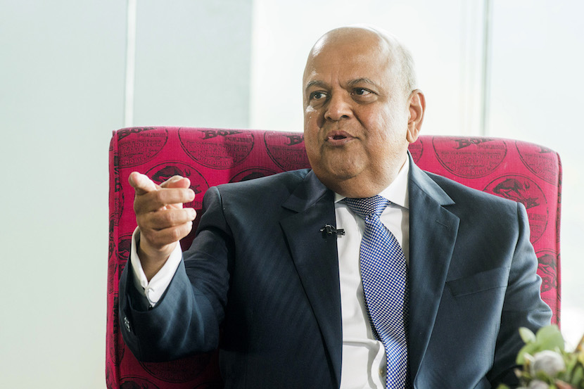 Pravin Gordhan, South Africa's finance minister, gestures as he speaks during a News24 Frontline event in Cape Town, South Africa, on Thursday, Oct. 27, 2016. Photographer: Waldo Swiegers/Bloomberg
