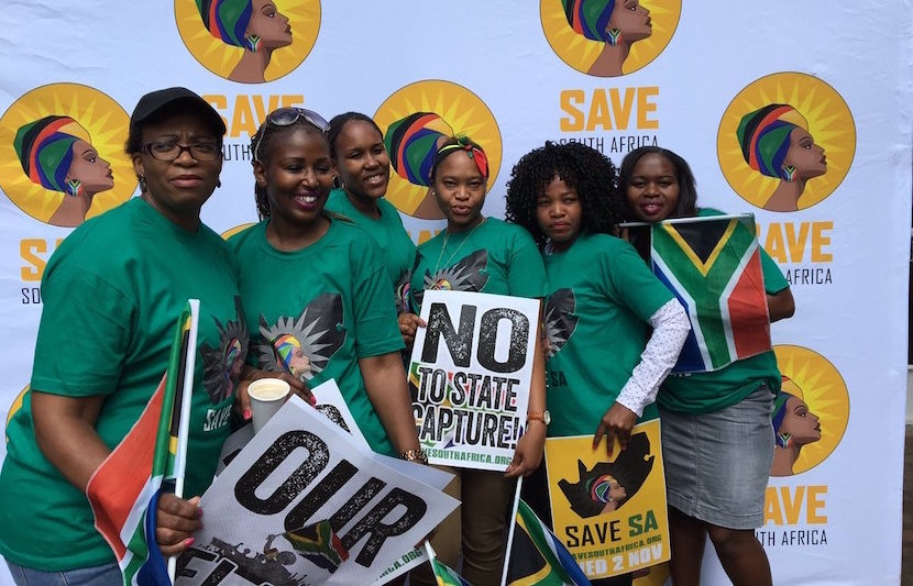 Save South Africa campaigners