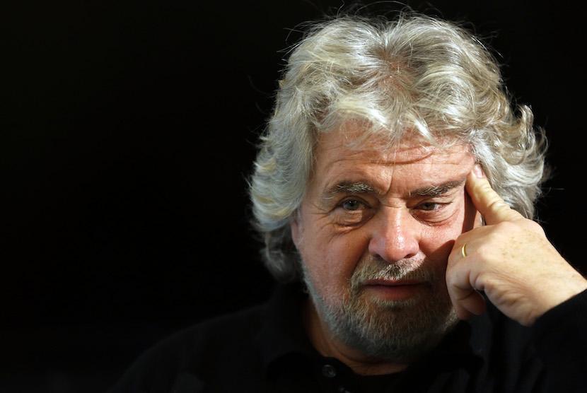 Beppe Grillo, comedian-turned-politician and leader of the Italian Five Star Movement. Photographer Alessia Pierdomenico