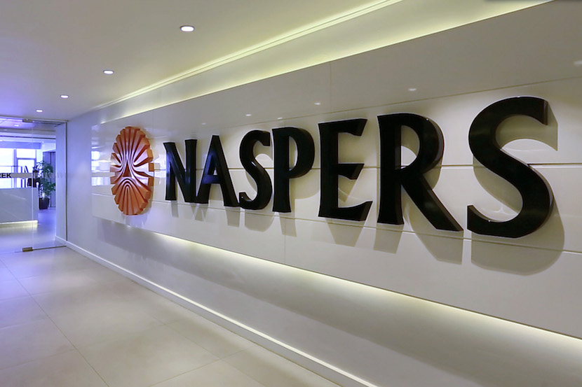 A logo sits on display inside the headquarters of Napsters Ltd.
