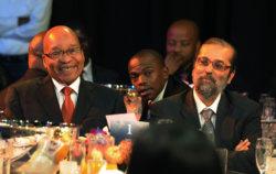 President Jacob Zuma with Yunus Carrim