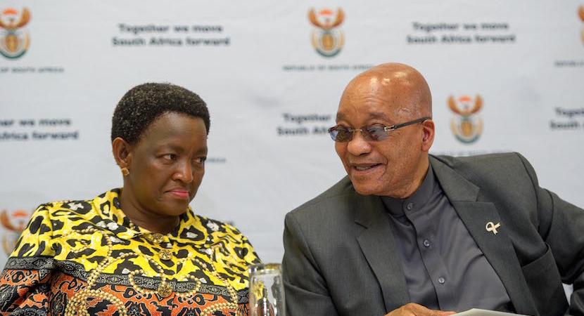 President Jacob Zuma with Minister of Social Development Bathabile Dlamini.