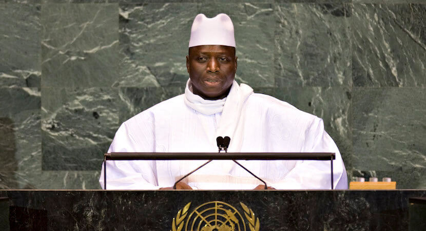 Gambia's tinpot dictator Jammeh leaves – allowed to keep ill gotten gains.